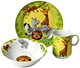 lowprice Ritzenhoff & Breker Jungle Animals 006940 Children's Dinnerware Set 3 Pieces Unparalleled