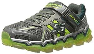 Skechers Kids Boys Skech Air 2.0 Athletic Sneaker (Little Kid/Big Kid), Gunmetal/Lime, 1 M US Little Kid