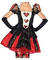 GetSurprises Queen Of Hearts Fancy Cosplay Alice Nightclub Wear Christmas Party Bar Women Prop Costumes