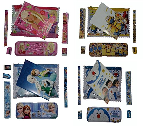 Buy Birthday Party Return Gifts Barbie Frozen Minions Doraemon Print Stationary Set For Kids