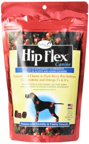 NaturVet Overby Farm HIP FLEX Joint Mobility Soft Chew Cherry Dog Treat 271 ml