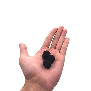 (10 Pieces) Foam Windscreen, Lapel Clip-on Microphone Accessories for Replcement, Black