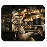 Bar Funny Cat Personalized Rectangle Mouse Pad
