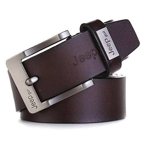 "Tekon nuovo business Men Split Cintura in pelle vacchetta 1,5 ""Vintage Classic Jean Pin Buckle Cinture 104,1 - 124,5 cm Free Trim Black 125 cm"