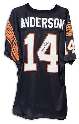 Ken Anderson Cincinnati Bengals Autographed Black Jersey - Certified Authentic