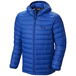 Mountain Hardwear Men\'s Micro Ratio Hooded Down Jacket, Azul, X-Large