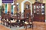 Inland Empire Furniture Zoe Brown Solid Wood 7 Piece Formal Dining Room Set