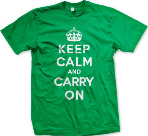 Keep Calm And Carry On Men's T-shirt