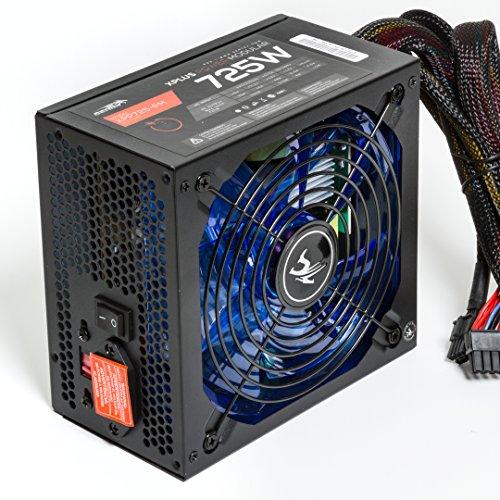 Sentey® Xpp725-Pm Modular Desktop Power Supply / 140 Mm Blue Led Sleeve Bearing Fan / Full Flat Modular Cables /12V Single Rail / 48Ampers / 6 Sata / 2 Pci-E 6-2 / Sli Ready / Crossfire Ready / Robust 12V Single Rail / 4Molex / Ul+Fcc Certifications / 78%
