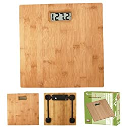 ATB Wood Bamboo Digital Bathroom Weighing Scale Body, 330lb/150kg