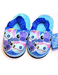 Authentic Disney Stitch Scrump Soft Warm Kids Rubber Band Slippers Shoes Antiskid