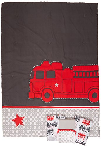 Carter's 4 Piece Toddler Bed Set, Fire Truck (Fire Truck Comforter Set compare prices)