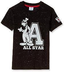 Fox Boys' T-Shirt  (Black Dots_16 years_337402)