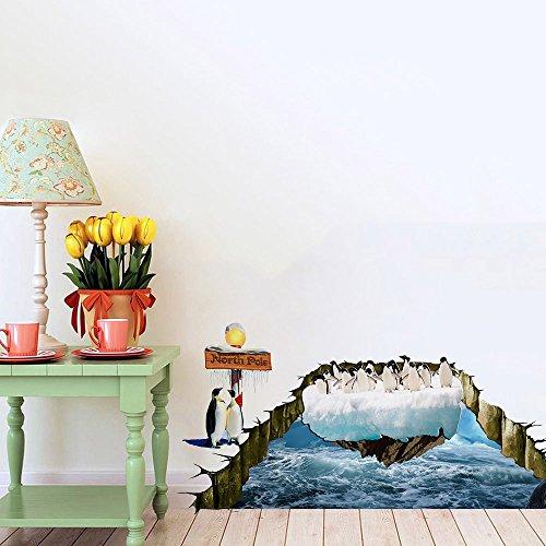 hd-photo-3d-stereoscopique-arctique-manchots-maternelle-enfants-chambre-decoration-sticker-mural-50c