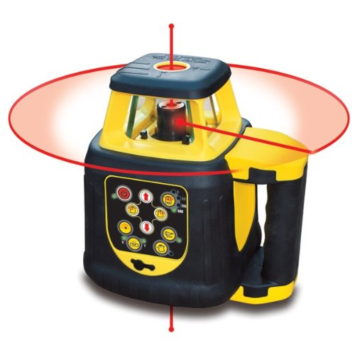 Self Leveling Horizontal/Vertical/Interior/Exterior Rotary Laser Detector (Red Beam)