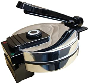 Saachi-New Sa1650 - Tortilla Maker / Roti / Wraps / Pita & Flat Bread Maker - Nonstick With Temperature Control