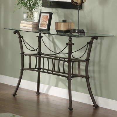 Cheap Console Table in Matte Black with Beveled Glass Top (MCS181)