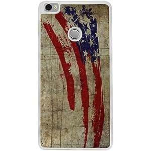 Casotec Vintage American Flag Design 2D Printed Hard Back Case Cover for Xiaomi Mi Max - Clear