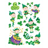 Happy St. Patrick's Day Shamrocks 12 x 17 Reusable Wall, Mirror and Window Cling