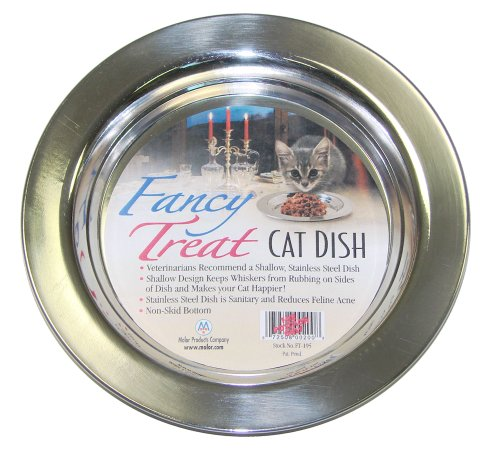 Molor Products Fancy Treat Cat Dish Stainless Steel Each (Stainless Steel Shallow Bowl compare prices)