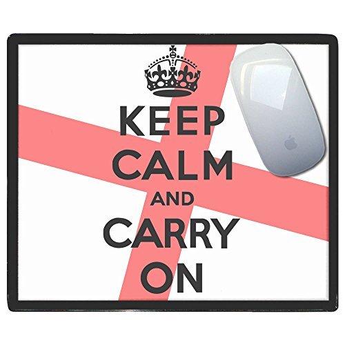 England Keep Calm and Carry On - tappetino di plastica del mouse