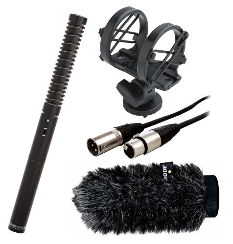 Rode NTG2 Shotgun Microphone with SM3 Shockmount, WS6 Deluxe Windshield and a 18 Inch XLR Microphone Cable