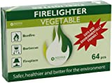 Danish Clean Green Firelighters, Non-Toxic Non-Flammable Fire Starters for Charcoal BBQ Barbeque Grill Fireplace Chimney, 100% Vegetable Oil Not Petroleum, Lights More Than 5 64oz Lighter Fluid Bottles, 128pcs, 2-count