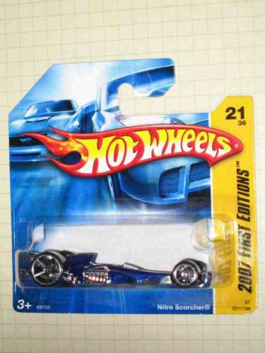 2007 New Models -#21 Nitro Scorcher Blue #2007-21 Collectible Collector Car Hot Wheels