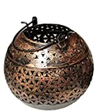 Crafticia Craft Traditional Rajasthani Decorative Iron Handicraft Metal Circular Tealight Candle Holder Bucket...
