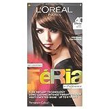 L'Oreal Paris Feria Permanent Hair Colour, Espresso Dark Brown Number 40 - Pack of 3