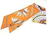 エルメス HERMES  Silk  Maxi twilly マキシ ツイリー トゥイリー H091698S オレンジマルチ 並行輸入品