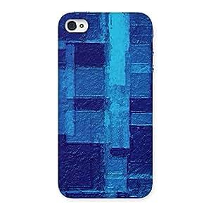 Impressive Premier Blue Pattern Back Case Cover for iPhone 4 4s