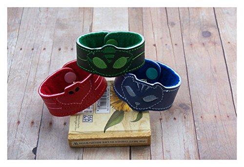 PJ Masks Inspired Bracelet Set of 3 Owlette Catboy Gekko Activation