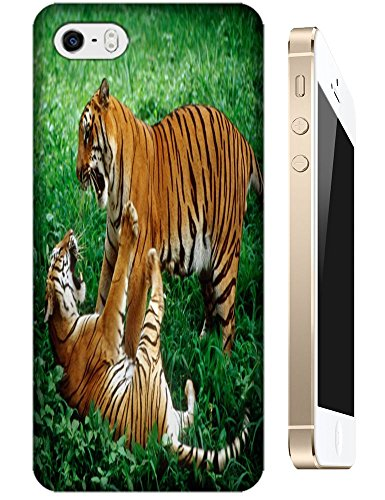 Lovely Power Tigers Cases Covers Phone Hard Back Cases Beautiful Nice Cute Animal Hot Selling Cell Phone Cases For Apple Accessories Iphone 4/4S # 21