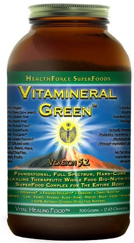 Contains no synthetic or isolated nutrients - Healthforce Vitamineral Green V5.2, Powder, 500-Grams