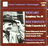 Mozart - Symphony No 40; Beethoven - Violin Concerto Vienna Philharmonic Orchestra