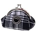 Black Plaid Coin Purse