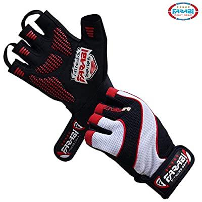 Weight Lifting Gloves Gym Training Fitness Workout Body Building Gloves from farabi sports
