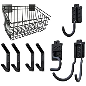 Gorilla Rack GH1003 Gorilla Claws Wire Basket and Steel Hooks, 8-Piece