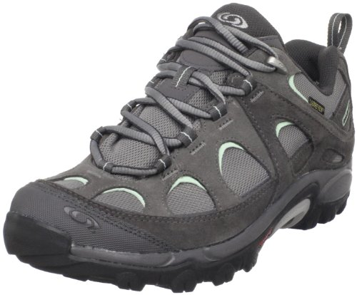 Salomon Women's Exit 2 Gtx W Pewter/Autobahn/Misty Jade Hiking Shoe 120416 4 UK