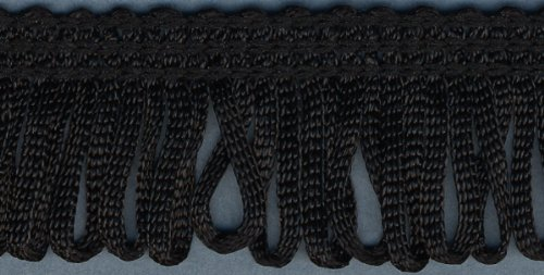 "Looped Fringe 1"" Wide 10 Yards-Black"
