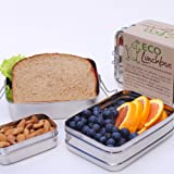 Stainless Steel ECOlunchbox Three-in-One (Bento Style Lunchbox)