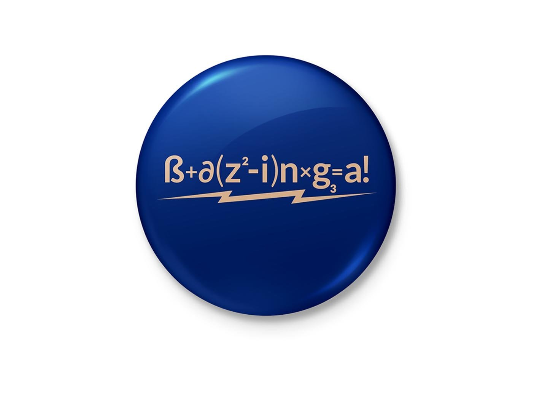alterEgo Bazinga Sheldon Cooper The Big Bang Theory Minimalist Badge