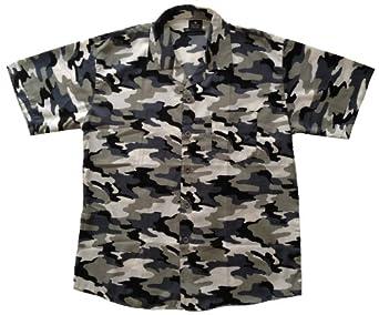 herren hemd kurzarm militaryoptik camouflage farbe grau. Black Bedroom Furniture Sets. Home Design Ideas