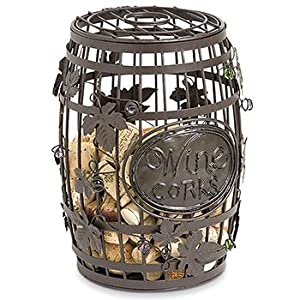 great bar decor wine barrel cork cage wine corks storage