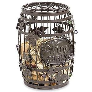Great bar decor wine barrel cork cage wine corks storage for Bar decor amazon
