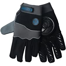 Sector 9 Apex Longboard Skateboard Slide Gloves Black / Grey Size S/M With Slide Pucks