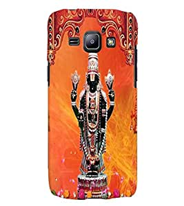 Fuson Premium Tirumala Balaji Printed Hard Plastic Back Case Cover for Samsung Galaxy J1 SM-J100H