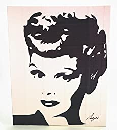 Duct Tape Art Piece of Lucille Ball