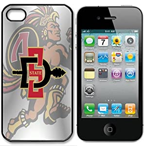 Buy NCAA San Diego State Aztecs Iphone 4 and 4s Case Cover by Case The World